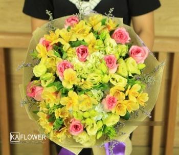 bó hoa đẹp tặng sinh nhật