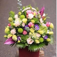 lẵng hoa mừng sinh nhật