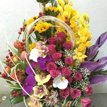 lẵng hoa sinh nhật đẹp