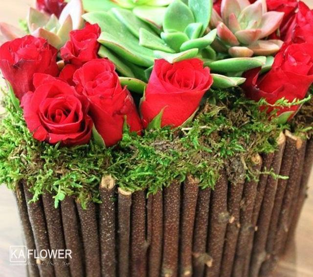 cáchcắm hộp hoa hồng hình trái tim
