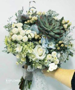 Hoa cầm tay cô dâu Ngát Xanh