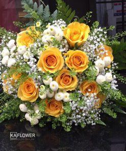 Hoa cầm tay cô dâu Nắng Vàng
